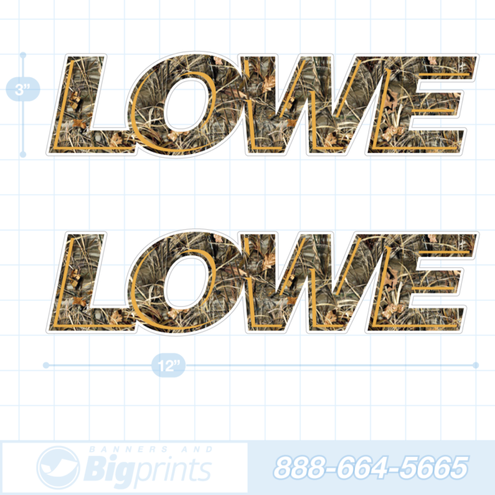 Lowe boat decals camouflage sticker package