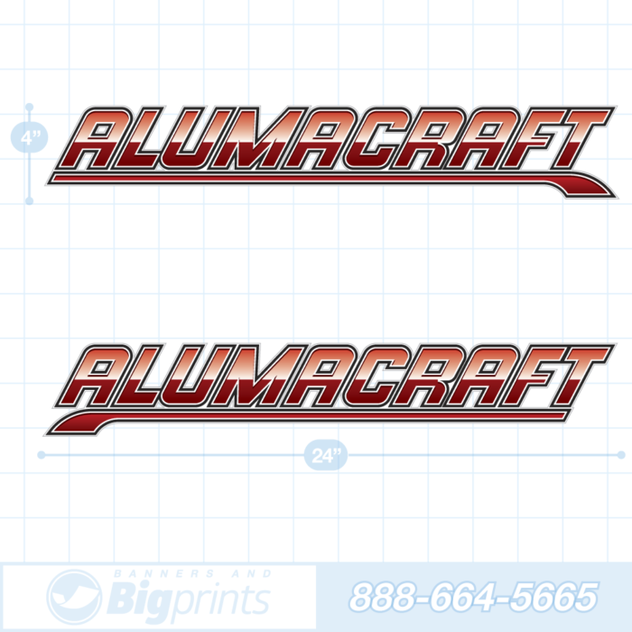 Alumacraft boat decals coast guard red sticker package