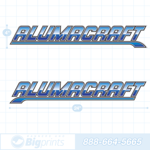 Alumacraft boat decals deep blue sticker package