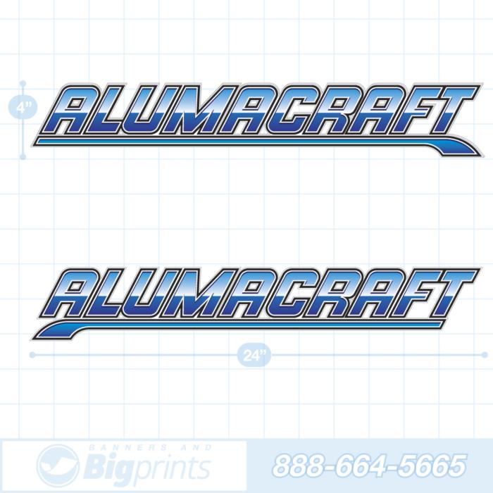 Alumacraft boat decals deep blue sticker package