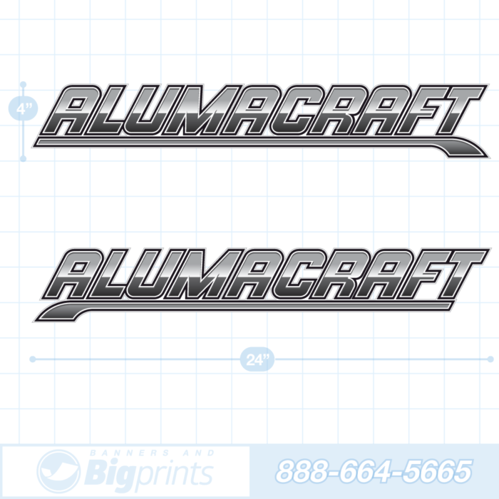Alumacraft boat decals steel gray and black sticker package