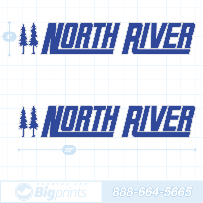 North River boat decals ocean blue sticker package