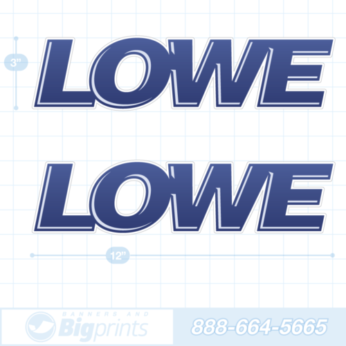 Lowe boat decals glossy navy sticker package