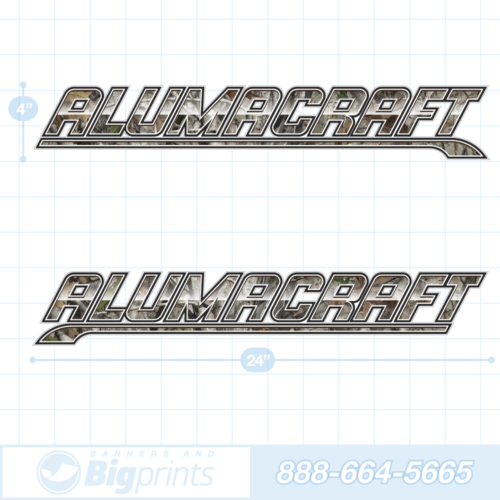 Alumacraft boat decals true tree camouflage sticker package