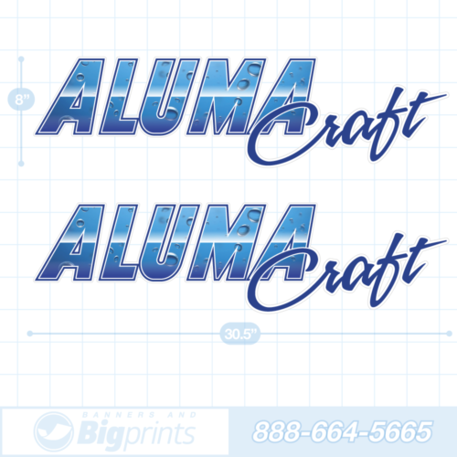 Alumacraft boat decals deep water blue sticker package