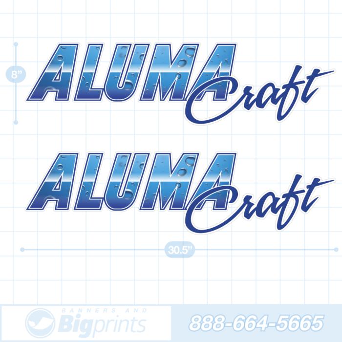 Alumacraft boat decals deep water blue sticker package