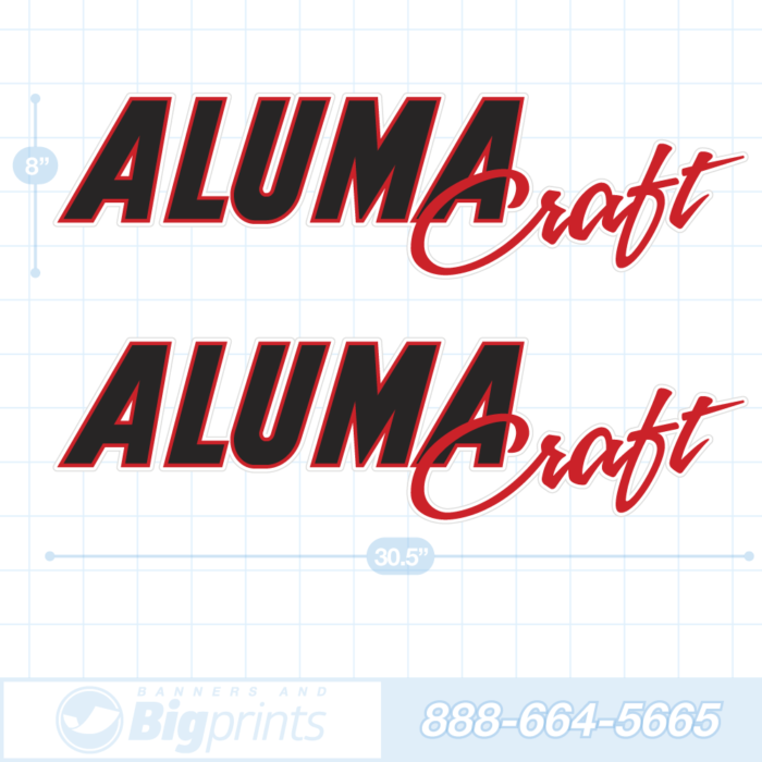 Alumacraft boat decals factory red and black sticker package
