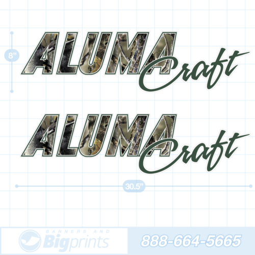 Alumacraft boat decals real tree green camo sticker package