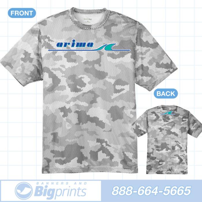Arima boats white camouflage factory logo t shirt
