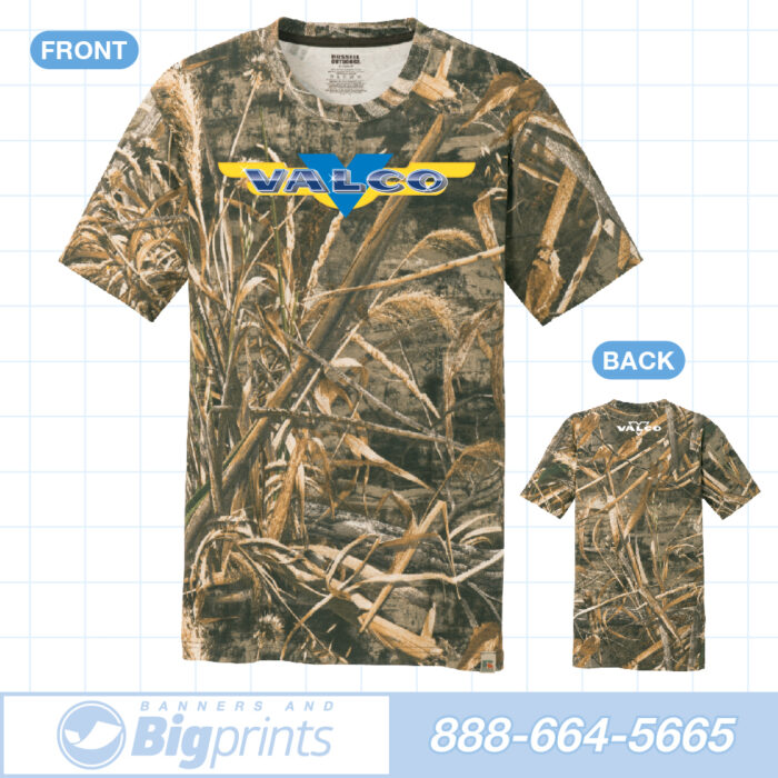 Valco boats real camouflage factory logo t shirt