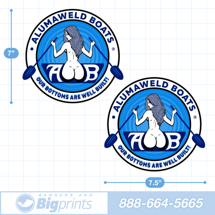 Alumaweld boat decals redesigned retro night blue sticker package