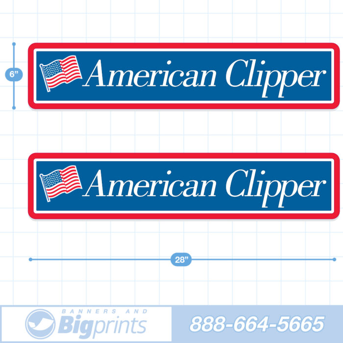 american clipper rv decal factory sticker package product image